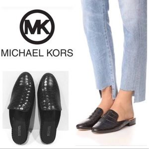 Michael Kors Leather Black mules